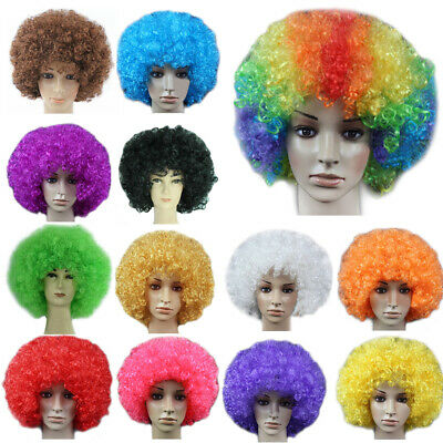 Adult Scary Bald Red Clown Afro Wig Halloween Party Cosplay Fancy Dress HM-613A