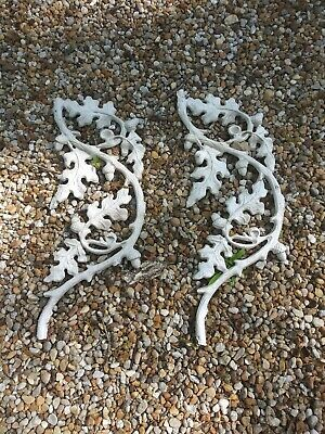 Antique architectural salvage cast iron 1958 Atlanta home oak leaves acorn