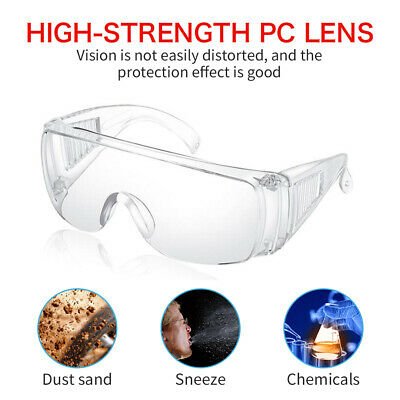 Safety Goggles Glasses Eye Protection Anti Fog Clear Vent Unisex Lab Work