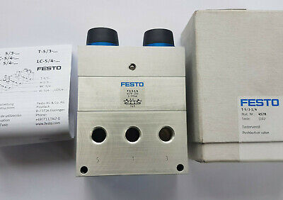 Festo T-5/3-1/4 4578 Tasterventil - New/Boxed Worldwide Shipping, Invoice, Mw