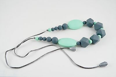 Teething necklace by Stilnati, teething necklace for mom to wear, silicone beads