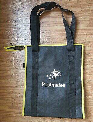 Postmates Insulated Food Delivery Bag With Zipper - NEW Never used