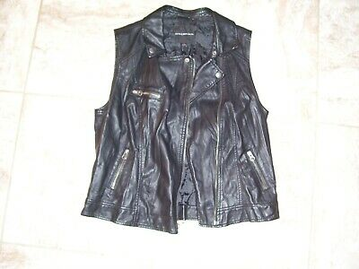 Ladies Tall Leather Motorcycle Vest DS206