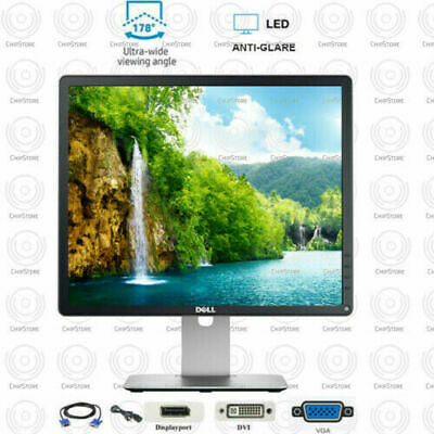 """Dell LED Monitor 20"""" inch Desktop Computer PC LCD With Cables"""