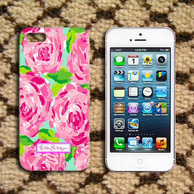 Lilly pulitzer pattern roses design iPhone 5 6 7 8 11 X XR XS MAX samsung case