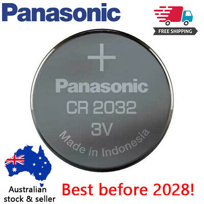 10 x  Genuine Panasonic CR2032 LOOSE Packing Battery 3V Lithium Battery Button