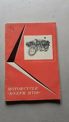 DNEPR 650 Sidecar MT 10 1974 manuale uso originale owner's manual
