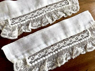 Antique White Lace Cuffs From Dress