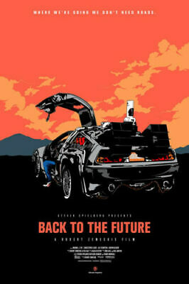 H542 Back To The Future Classic Movie 24x36'' Art Silk Poster