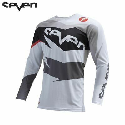 Seven MX Adult MTB Mountain Bike Jersey Motocross (Annex Ignite Grey/White)
