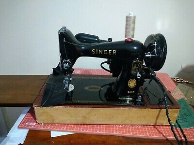 Semi-Industrial Singer 99K electric Sewing Machine, Sews leather!