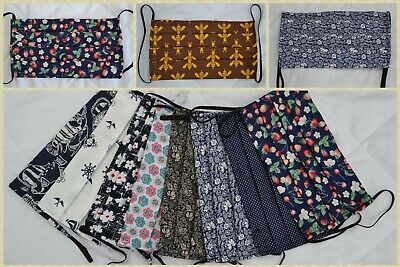 Protective Face Mask with Pocket for Filter 100% Cotton Reusable and Washable