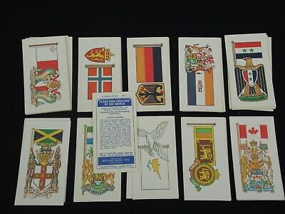 Brooke Bond, Flags And Emblems Of The World, Full Set Of 50.