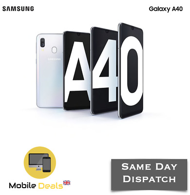 New Samsung Galaxy A40 64GB (2019) Android Smartphone Dual SIM 4G LTE Unlocked
