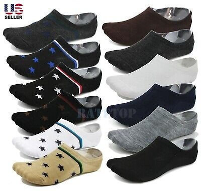 Lot 6-Pack Mens Low Cut No Show Socks Invisible Loafer Boat Ankle Cotton 10-13
