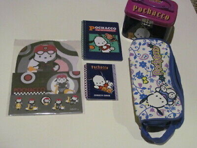 Sanrio Pochacco Spiral Pad Stationary Set Address Book Tin Case Pencil Pouch
