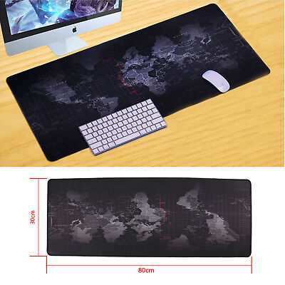 Useful  World Map Large Cloth Extended Rubber Gaming Mouse Desk Pad Mat Office