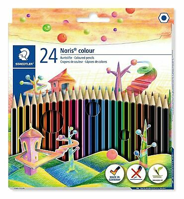 Staedtler  185 C24 Noris Colour Colouring Pencil - Assorted Colours Pack of 24