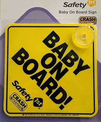 Safety 1st Baby On Board Sign (suction)