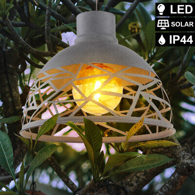 LED solar hanging lamp ceiling pendant outdoor spot light amber garden balcony