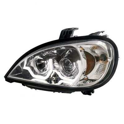 Chrome Freightliner Columbia Projection Headlight - Driver Side