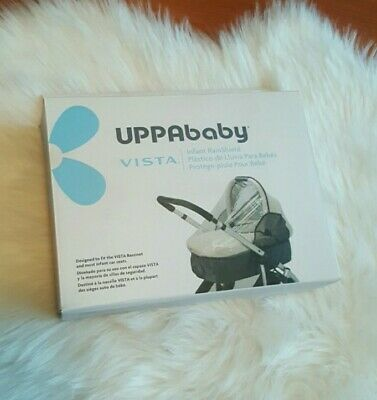 UPPAbaby Infant Vista Bassinet Rain shield FCover Clear in box NEW