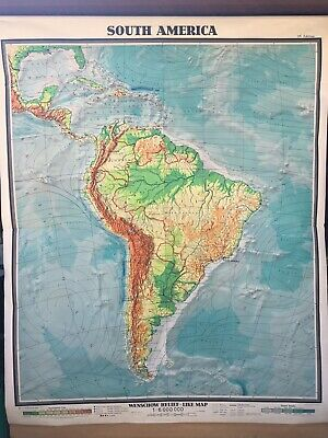 Large Roll-Up Map - South America - Karl Wenschow - 1961