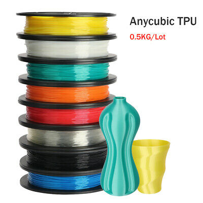 ANYCUBIC TPU 3D Printer Flexible Filament 500g/1.75mm Spool Multi-Coloured
