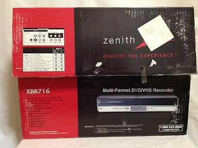 NEW Zenith XBR716 DVD VHS Recorder Player 4 Head HiFi Stereo VCR Combo