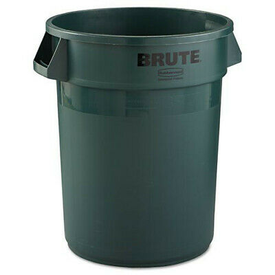 Rubbermaid 32 Gal. Round Brute Container (Dark Green) 2632DGR New