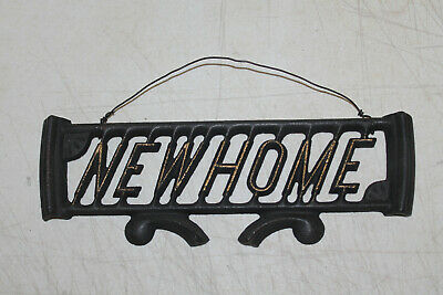 CAST IRON NEW HOME SEWING MACHINE PART Repurpose SIGN INDUSTRIAL HOME DECOR