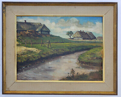 ARNOLD FIECHTER (Swiss, 1879 - 1943) Original SIGNED MODERNIST Oil Painting