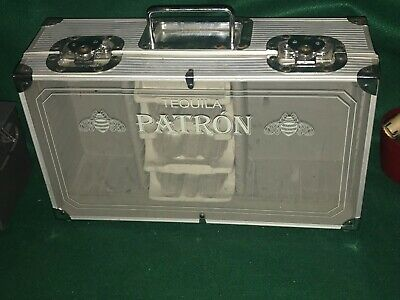 Patron Tequila Playing Cards & Poker Chips Display Carry Case