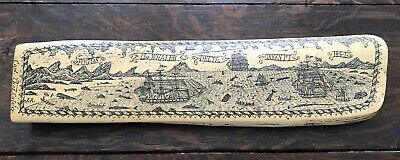 Vintage Reproduction Scrimshaw Fogos The Whaler Green PT 1842