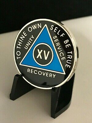 Alcoholics Anonymous Chips 9 Year AA Medallions Coin Nine Year Coins Green White Black Token