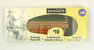 General No. 10 Classic Drawing Pencil Kit, Charcoal, Graphite and Carbon Pencil