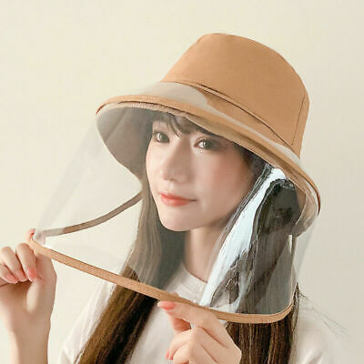Full Face Covering Shield Anti Saliva Visor Fisherman Cap Hat Protective Cover