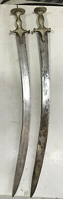 Antique sword  Two Piecies with Leather Scabbard 19th Century