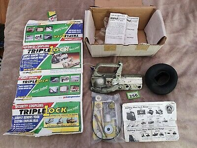 Indespension Triple Lock Trailer Or Caravan Hitch WL1 never used with 2 keys