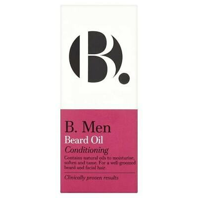 B. Men Beard Conditioning Oil 30ml. Clinically Proven Results. Vegan.