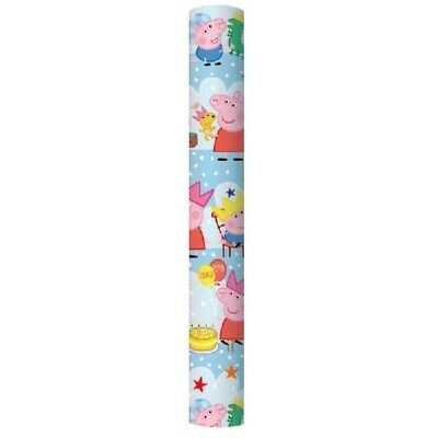 BUY 2 GET 1 FREE 2m PEPPA PIG WRAP ROLL/ WRAPPING PAPER