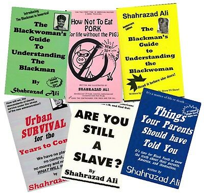 All 6 Books By Shahrazad Ali YOU ARE BUYING DIRECTLY FROM THE AUTHOR!!!