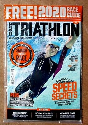 220 Triathlon Magazine Spring 2020 ~ Sealed With Free 2020 Race Guide ~ New ~