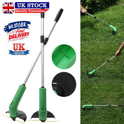 UK Electric Cordless Garden Grass Trimmer Heavy Duty Weed Strimmer Cutter Tool
