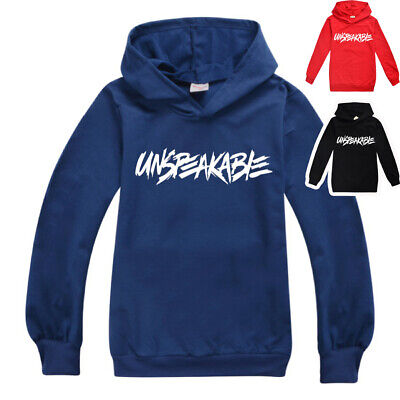 UNSPEAKABLE  boys girls thin hoodie top jumper shirt outfit pullover size 7-12 B