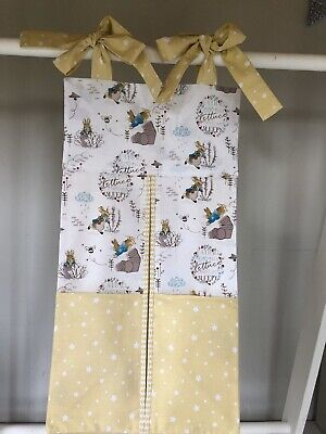 Peter Rabbit/Yellow Stars, Nappy Stacker. For a Girl or Boy. Ideal Gift
