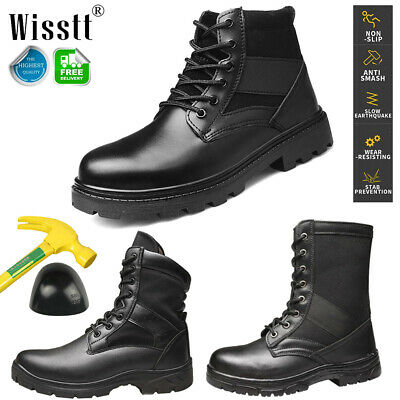 Men's Military Duty Work Boots Steel Toe Tactical Deployment Safety Shoes Combat