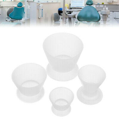 UK`4Pcs Dental Lab Non-Stick Flexible Silicone Dappen Dish Mixing Mug Bowl Cup