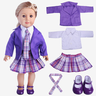 18'' American Girl Brand Doll clothes kit Five sets coat/shoes/skirt/shirt/neckt