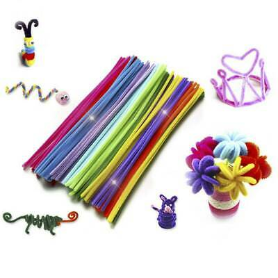 100/150PCS Kids Educational Toys Craft Twist Rods Chenille Stems Pipe Cleaners